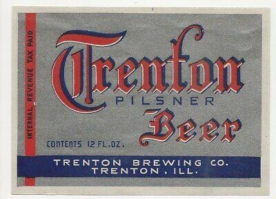 Trenton Brewing Pilsner Beer label IRTP IL