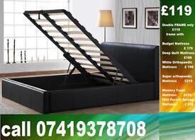 AB DOUBLE storage leather Base ,single Kingsize available / Bedding