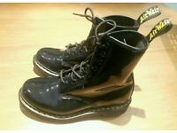 Dr. MARTENS DM'S original airwear black patent like new