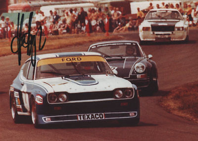 HANS HEYER - Originalautogramm, Ford Capri RS