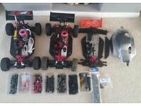 Thunder tiger eb4 s2 and huge amount of spares rc car nitro