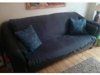 4 seater leather sofa..