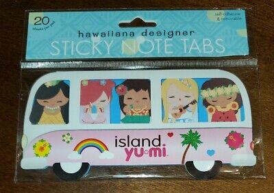 Island Yumi Sticky Note Tabs Nip Hawaiiana Designer Hula Girls In Bus