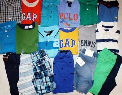 NICE LOT OF BOYS CLOTHING Size 4-5 GAP TALBOTS RALPH LAUREN NAUTICA some nwt