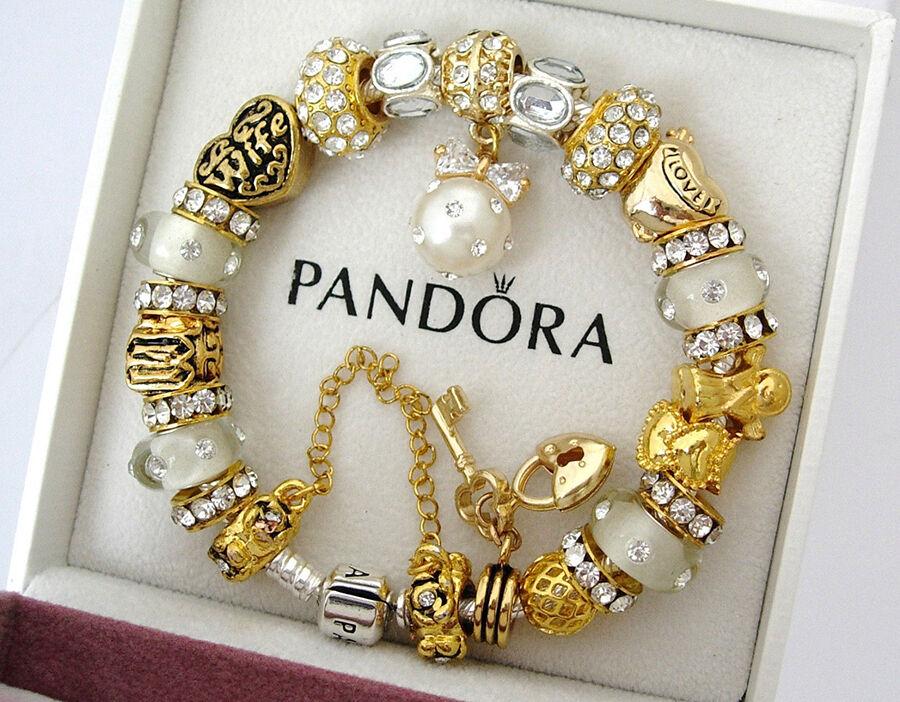 pandora armband anhänger gold