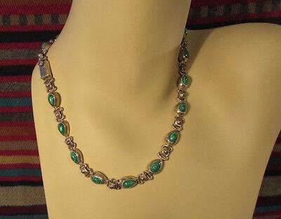 MINT pre-1979 vintage TAXCO Sterling Silver & Malachite Necklace