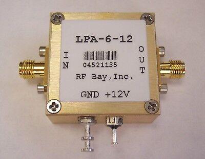 100-6000mhz 15db Gain Rf Amplifier Lpa-6-12 New Sma