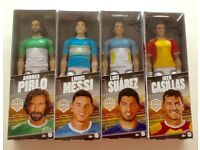 FOOTBALLERS, famous players in plastic with moving parts, set of eight (8) players.