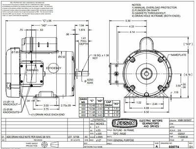 Leroy Sommer 3P AC Motor PIH90T 257166XK New
