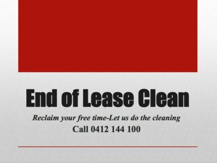 END OF LEASE & REGULAR CLEANING Sydney Region Preview