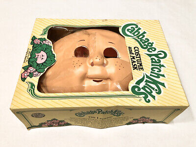 vintage Cabbage Patch Kids Costume and Mask 1983 Ben Cooper size 6-8 used