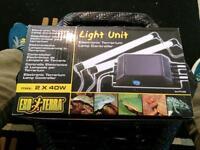 T8 double Exo Terra light unit