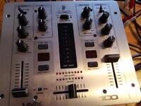 Dj mixer vmx 100 beats, behringer 2 chanel mixer