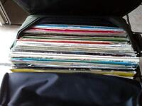 Dj record vinyl bag full vinyls, trance, dance, oldskool, club