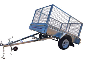 6×4 Single Axle 750kg Galvanised Box Trailer with 800mm Cage & 300mm sides $35p/w  Garbutt Townsville City Preview
