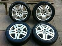 Volkswagen golf mk4 set of 4 alloy wheels 5x100 with nearly new tyres