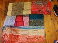 Pashmina scarves, can be used as throws