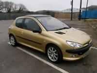 Very reliable 2002 Peugeot 206 gti, July 10, 2017 mot.