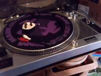 2 x kam ddx 680 dj decks turntables & 20 x free records vinyl, dance, trance & oldskool