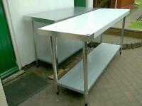 """Commercial Vogue stainless steel table catering equipment."""" Brand Ne"""