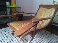 Plantation chair thought to date from the 19th century offered for sale