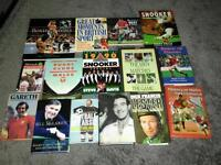 Two boxes full of sporting themed books