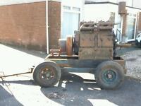 Lister JP4 J P 4 diesel stationary engine. Antique.