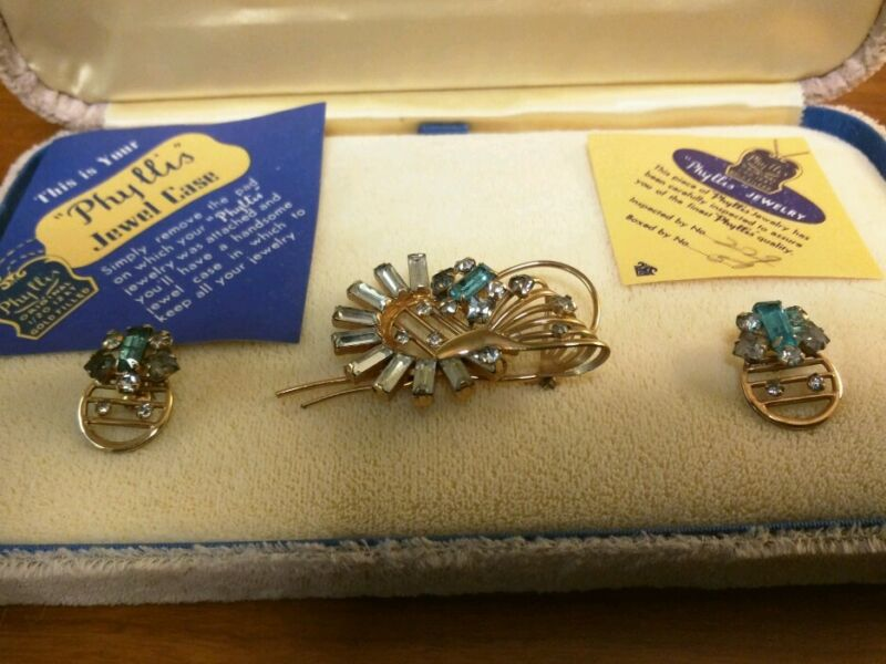 Antique Art Deco Phyllis original Jewelry 12 GF