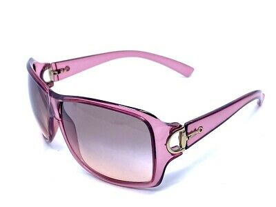 GUCCI Vintage Pink Tint Clear Oversized Horsebit Sunglasses GG 2575/S PT5PD