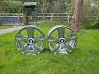 Genuine Set Of Four Bentley GT Continental BBS Alloy wheels. Audi/Volkswagen/Mercedes/Seat/Skoda