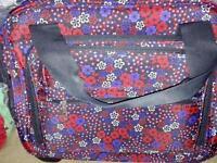 Weekend bag with built in wheels.