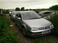 VW Golf 1.9 TDI Mk4 Spares or Repairs, Runs Drives No MOT