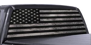 American Flag Window Decal EBay - Chevy rear window decals truckschevy truck window decals