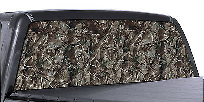 FGD Truck Rear Window Wrap Oak Camouflage Hunting Perforated Vinyl Decal   ()