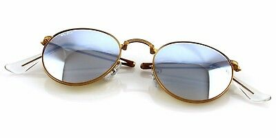 c1a5c23925984 RARE Genuine RAY-BAN Round Metal FOLDING Bronze Copper Sunglasses RB 3532  198 9U