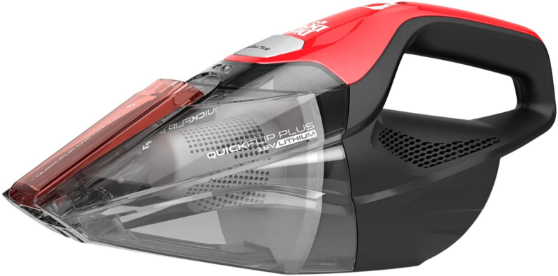 Dirt Devil Plus 16V, Red Quick Flip Pro Cordless 16 Volt Lit