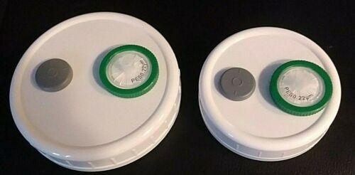 Mushroom Grain Spawn Injectable Mason jar Lid Wide or Regular Mouth Autoclavable