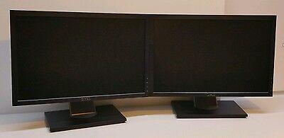 """شاشة ليد مستعمل DUAL Dell Ultrasharp 1909Wf 19"""" Widescreen Flat Panel LCD Gaming Monitors"""