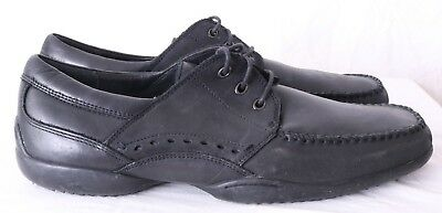 Hush Puppies H155990 3-Eye Driving Stitched Casual Moc Oxfords Men's US 12M 3 Eye Moc