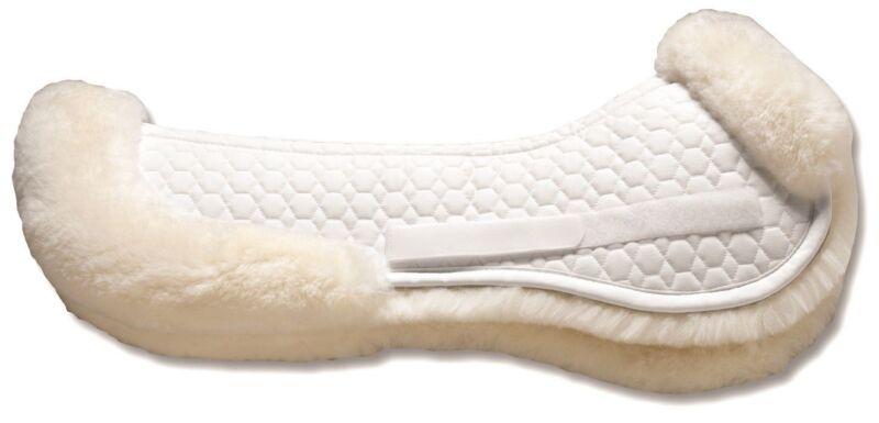 Mattes GOLD Half Pad w/REAR TRIM - Dressage  - 354877-  Black or White
