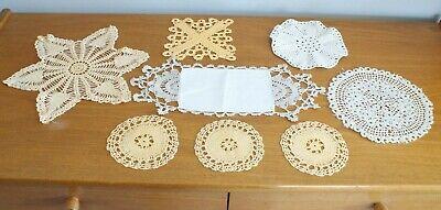 Vintage Hand Crochet, Table Mats, Doilies, Lace
