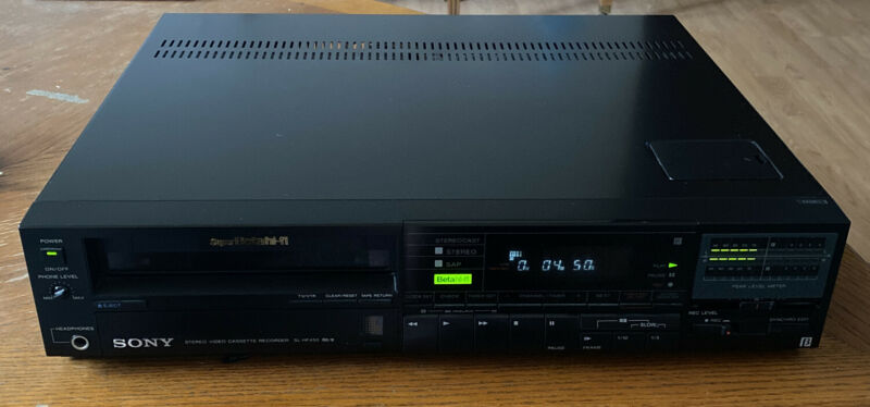 Sony Super BetaMax SL-HF 450 VCR Tested And Working! Very Clean! Beta Vintage