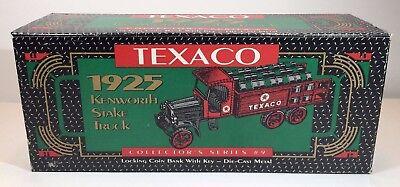 1925 ERTL TEXACO KENWORTH STAKE TRUCK #9 DIE CAST METAL COIN BANK NEW IN BOX