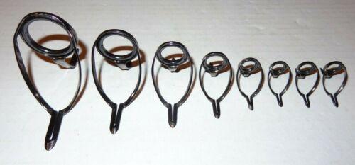 New Set 8 Batson ALPS Titanium Zirconium XTCXNZG Fishing Rod Casting Guides #1