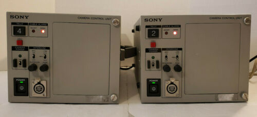 2x Lot Sony Camera Control Unit CCU-TX7 Powers On 3-608-648-01 + Power Cable
