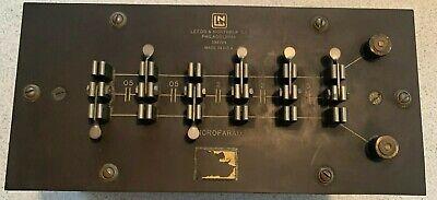 Vintage Leeds Northrup Co Microfarad Capacitor Bakelite Top Mahogany Box