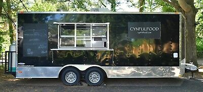 Black Food Truck Trailer Barely Used Comes Wamenities In Photos Hitch