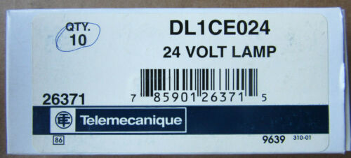 (10) Telemecanique DL1CE024 Lamps 24 Volts NEW!!! in Factory Box Free Shipping