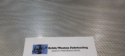 18 Holes--11 Ga 18 Thick 304 Stainless Steel Perforated Sheet 12 X 24
