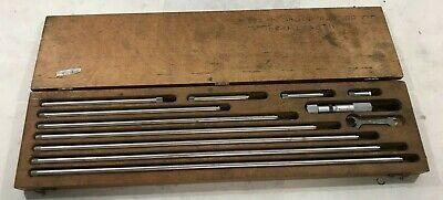Starrett 823m Inside Micrometer Rod Set 25mm - 450mm In Wood Case K68